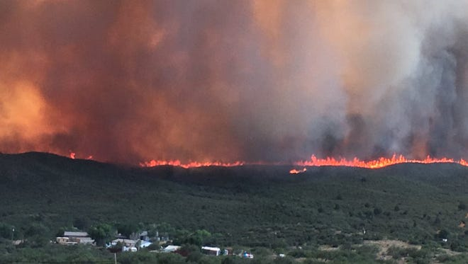 Officials on June 27, 2017, ordered more mandatory evacuations for several areas near the Goodwin Fire, burning 14 miles south of Prescott and south of the community of Mayer.