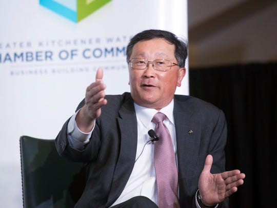 BlackBerry CEO John Chen speaks at the Kitchener-Waterloo