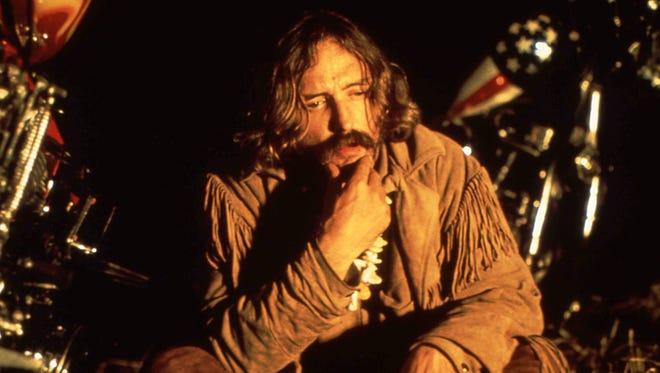 "Dennis Hopper in a scene from ""Easy Rider."""