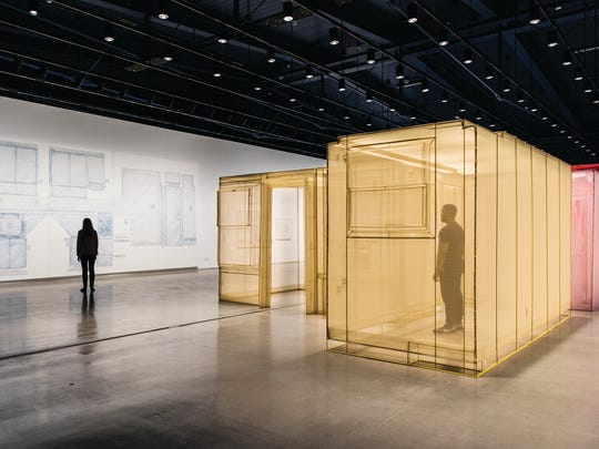 Do Ho Suh has created a full-scale replica of his former apartment and studio in New York City out of diaphanous, colored fabric.