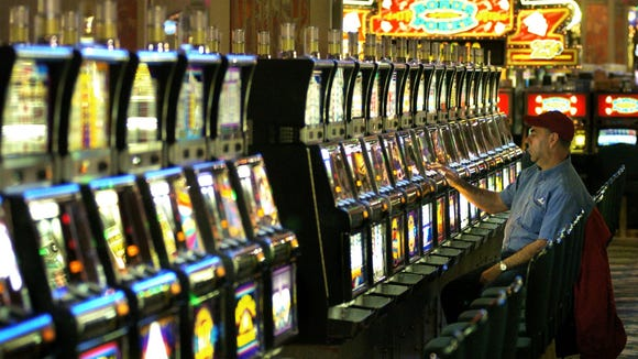 Slot machines at the Seneca Niagara Casino. A majority of Monroe County residents would prefer not to see such an establishment here, according to a recent poll.