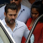 In this photograph taken on May 8, 2015, Indian Bollywood film actor Salman Khan leaves his home to appear at a Sessions Court in Mumbai.