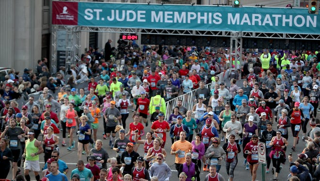 December 2, 2017 - The 16th Annual St. Jude Memphis Marathon Weekend drew more than 25,000 people from 49 states and 19 countries. The occasion is the largest single-day fundraising event for St. Jude Children's Research Hospital.