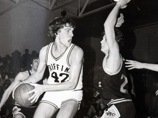 Jim Dolan looks to move the ball in a 1981 game against McCorristin for St. Joseph's-Toms River.