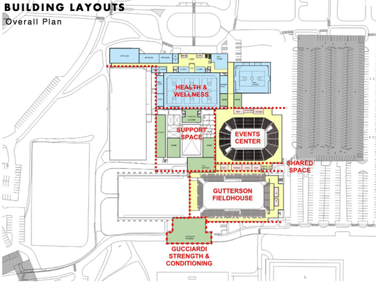 A rendering of the proposed changes and additions to