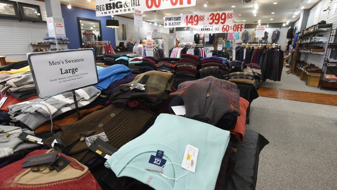 Wade's Clothing in Zanesville is closing, and selling everything, including furnishings.