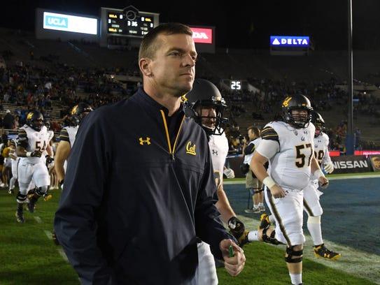 California Golden Bears head coach Justin Wilcox