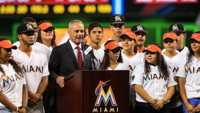 Major League Baseball commissioner Rob Manfred  wants to enliven the game.