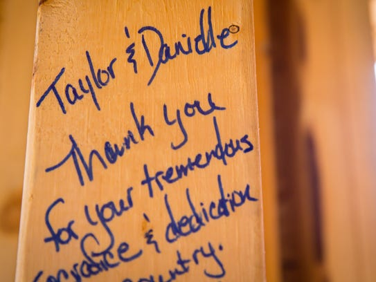 Notes written for Taylor and Danielle Morris at their