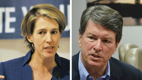 Democrat Zephyr Teachout, left, and Republican John Faso are running in the 19th Congressional District
