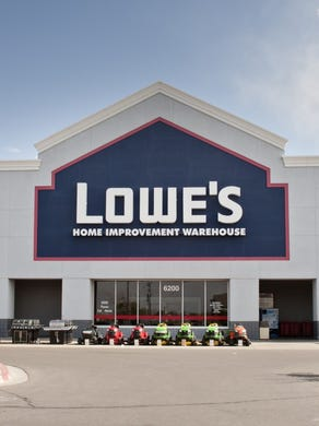 Lowe's, like Home Depot, offered curbside pickup while staying open as an essential business.