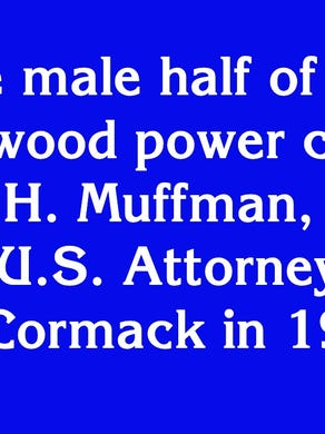 """$1600: """"The male half of the Hollywood power couple Filliam H. Muffman, he played Asst. U.S. Attorney John McCormack on 'Law & Order' in 1990"""""""