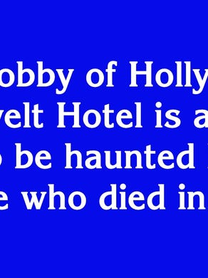 """$400: """"In the lobby of Hollywood's Roosevelt Hotel is a mirror said to be haunted by this blonde who died in 1962"""""""