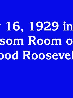 """$600: """"May 16, 1929 in the Blossom Room of the Hollywood Roosevelt Hotel"""""""