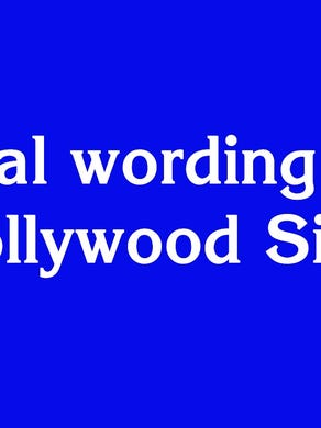 """$600: """"Original wording of the Hollywood Sign"""""""