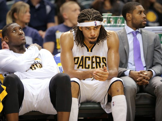 Pacers forward Chris Copeland, center, was too often a spectator his first two seasons in Indiana.