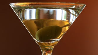 Cassic martini in a classic martini glass at Grissini Restaurant in Englewood Cliffs.