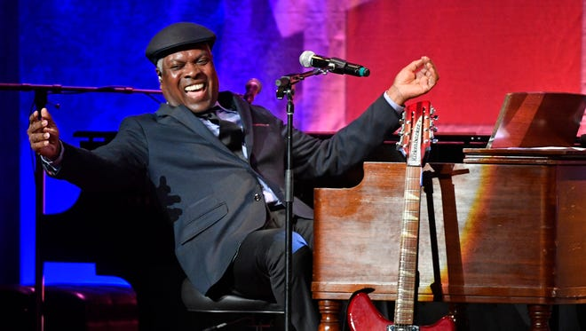 Booker T Jones performs at Marty Stuart's annual Late Night Jam at the Ryman.  Wednesday June 7, 2017, in Nashville, TN