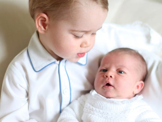 Prince George and Princess Charlotte, in mid-May 2015,