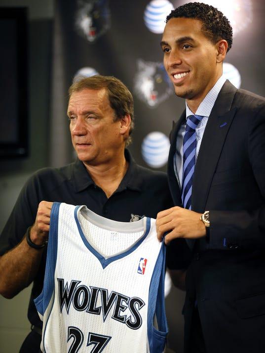 AP Timberwolves Martin Arrives Basketball