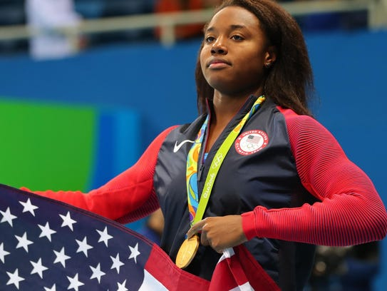 Simone Manuel set an Olympic record, when she and another
