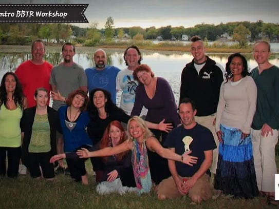 A group photo from one of the Intro to Biodynamic Breath