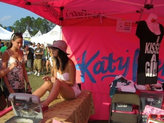 Katy Perry was new to the music scene at the Vans Warped
