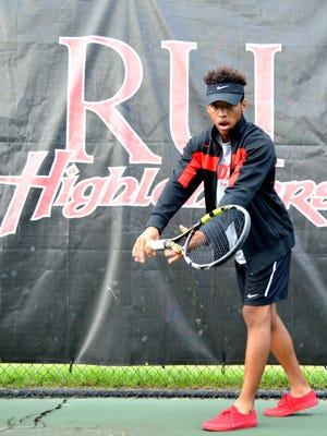 After one season of high school tennis, Quuraan Harden walked on to the Radford tennis team.
