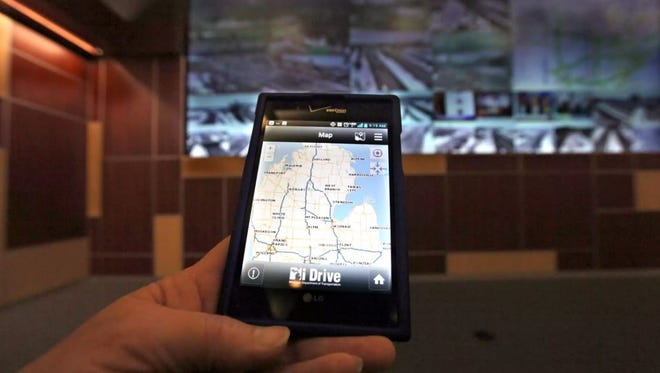 The Mi Drive app shows the map of Michigan and its roads. You can click on to see the route you are about to take to see if there are and back-ups or construction it is connected to over 300 cameras on the State M and Interstate freeways.