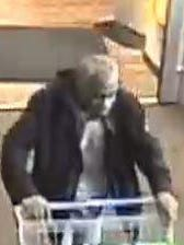 Police are looking for his man who was reported to have loaded his grocery cart and walked out without paying.