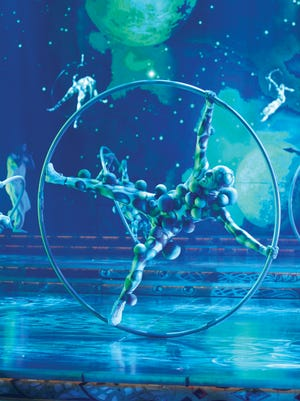 "In this undated theater publicity image released by Cirque du Soleil, a scene from the Cirque du Soleil production ""Zarkana"" is shown."