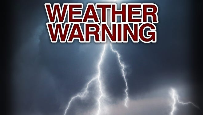 THe Valley is under a tornado watch until Monday at 8 p.m.