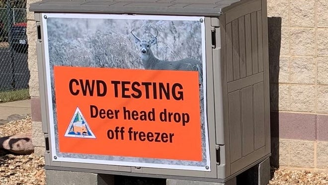 Deer head drop-off freezers are one of several options Pulaski County deer hunters will have for having their harvested deer tested for chronic wasting disease this fall. Photo by Missouri Department of Conservation