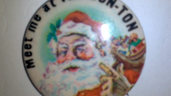 Reader Roger Fuller of Yoe shared this photo of a Santa pin from The Bon-Ton. His father worked at the company's downtown York store.