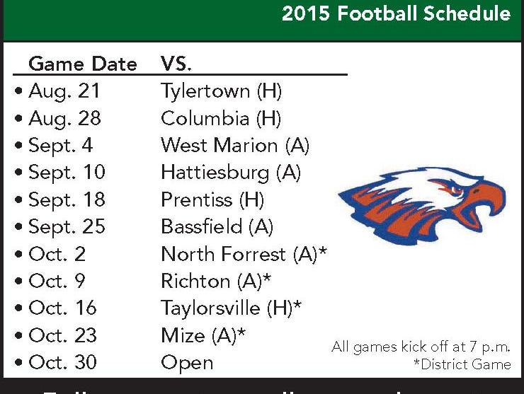 East Marion football schedule