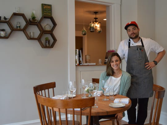 Heirloom owner Meghan Lee with executive chef Jordan Miller at the Lewes restaurant, which opened in December.