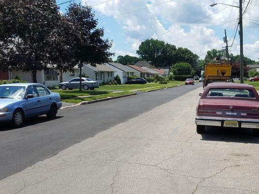 Clifton half-paved street
