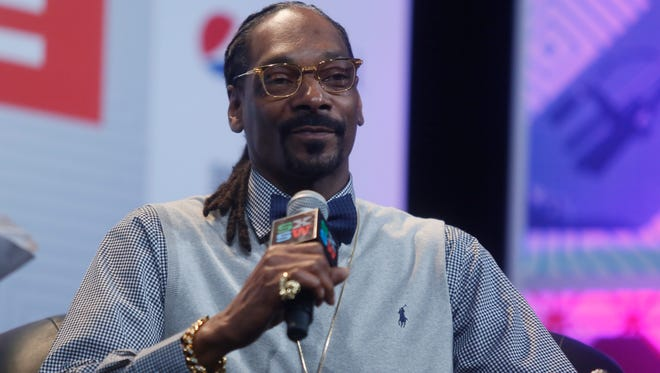 "Snoop Dogg takes part in the ""Keynote Conversation with Snoop Dogg"" during the SXSW Music Festival on Friday, March 20, 2015 in Austin, Texas."
