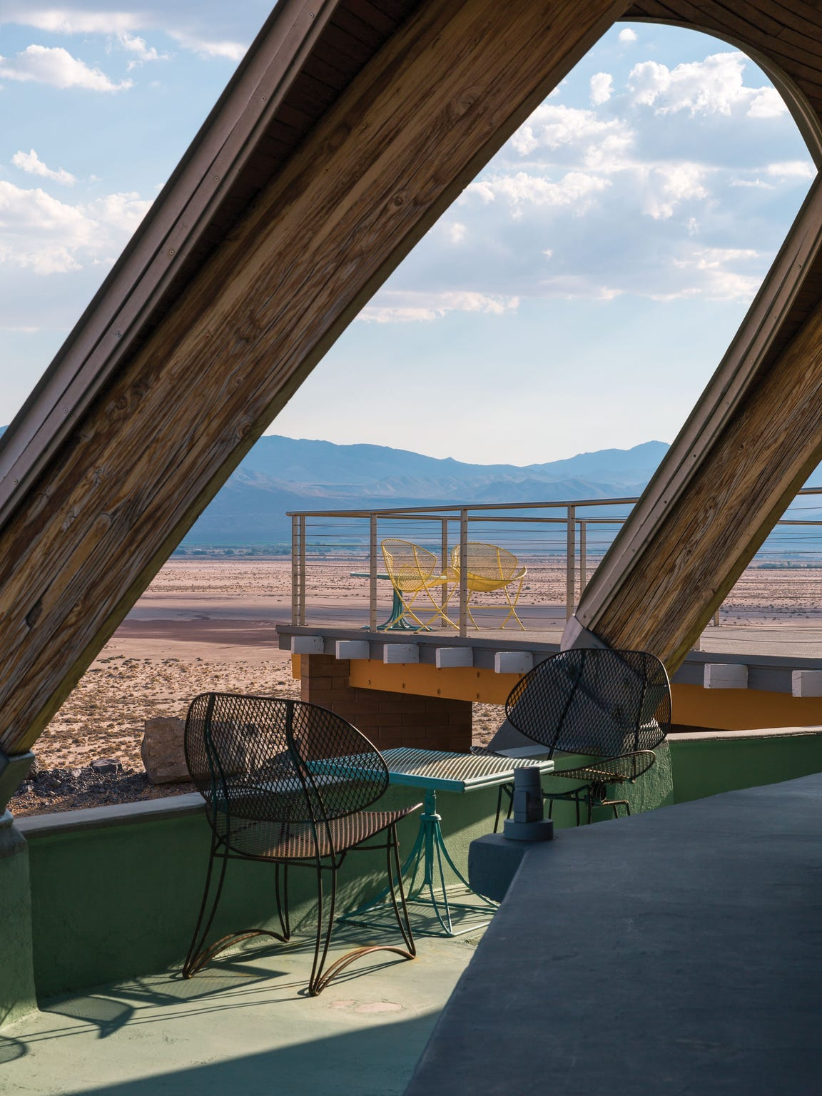 The deck of the Volcano House.