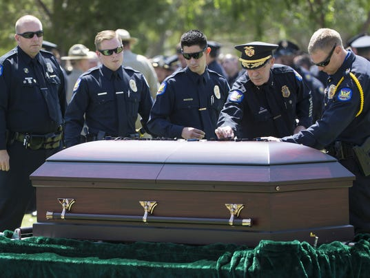 Funeral for Officer David Glasser