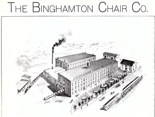 An ad for the Binghamton Chair Company on the city's