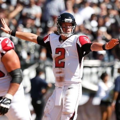 Falcons quarterback Matt Ryan has thrown for a league-leading 730 yards through the season's first two weeks.