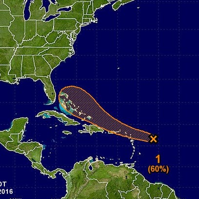 The latest track for 99L.