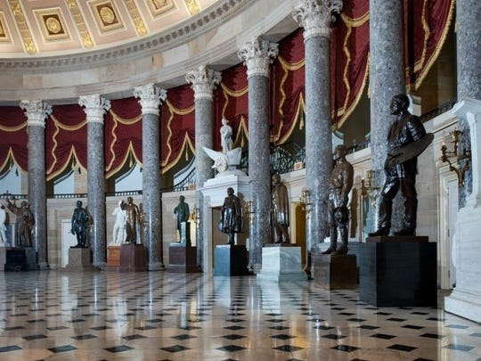 National Statuary Hall is located in the U.S. Capitol. It was the meeting space for the U.S. House in the first half of the 19th century.