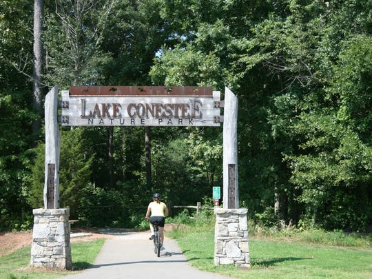 Lake Conestee Nature Park is a great place to stop for a day of mountain biking or scenic views.