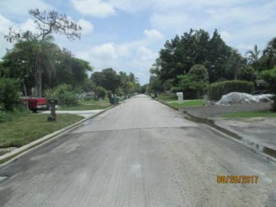 Karen Drive on Monday, Aug. 28, after a weekend of  heavy rain.
