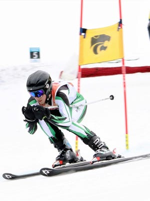 Novi's Jack Grove was third at the Alpine Valley regional in the giant slalom.