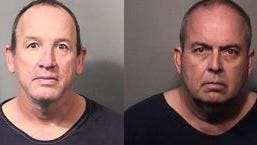 """Edward Strobush and Dale Alan Gunther were arrested  in connection with what investigators called an """"organized theft ring"""" at Brevard Public Schools."""