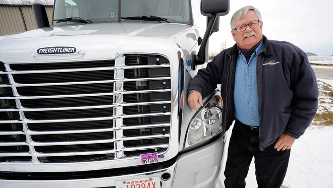 Larry Mitchell of Manitowoc is one of Wisconsin Nationwide's veteran truck drivers.