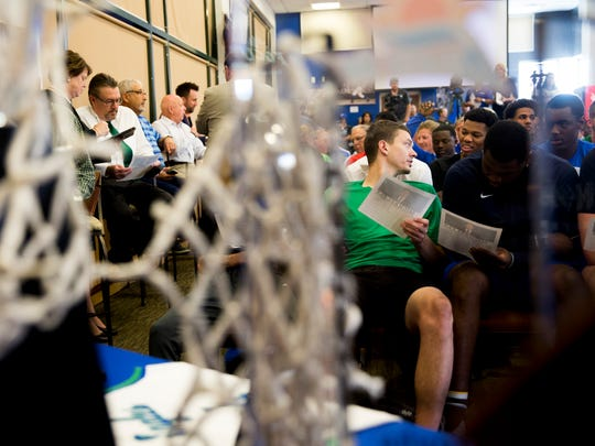 The Hospitality Suite at Alico Arena fills up as players,